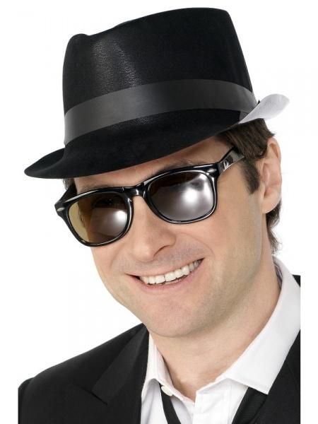 5d5b5b081f0 Klobouk - Mafián černý. Mafiánský klobouk z 20. ...
