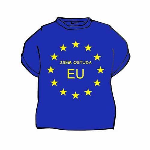 Tričko s vtipným potiskem JSEM OSTUDA EU - Ptákoviny Václavák 29481c71c4